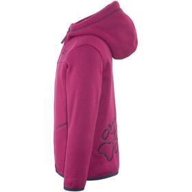 Jack Wolfskin Navajo Valley Fleece Jacket Kids dark ruby